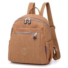 Nylon Backpacks Women Small School Backpack for Teenage Girls Waterproof Mochila Feminina Travel Ladies Bagpack 2019 Sac A Dos цены онлайн