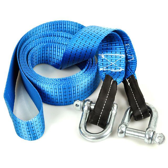 Double-thick high strength car tow rope e 7-8 ton  off-road  U-shaped widening thicker steel hook safe and reliable