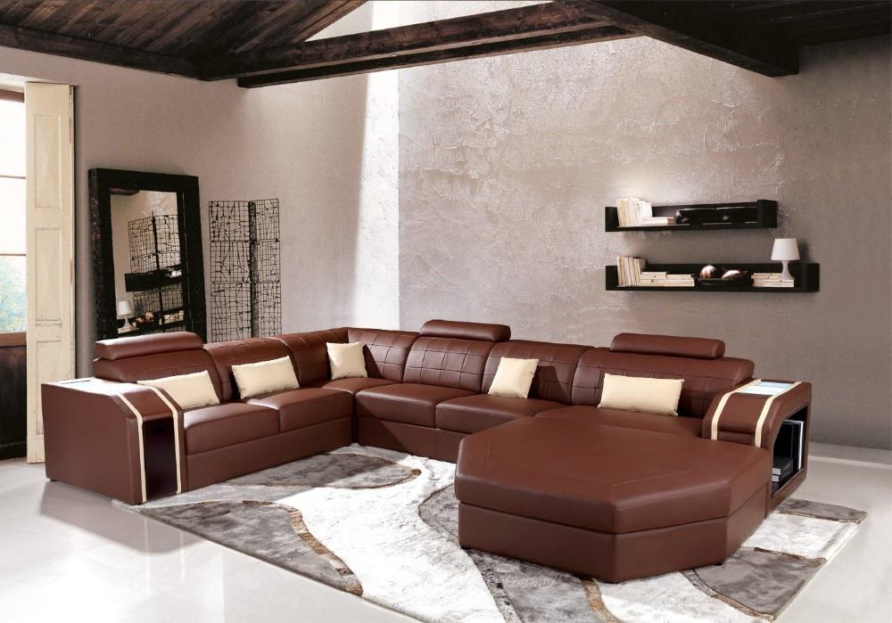 US $1680.0 |Moderno angolo divani e divani angolari in pelle per mobili  Divano set soggiorno con ampio angolo-in Divani da soggiorno da Mobili su  ...