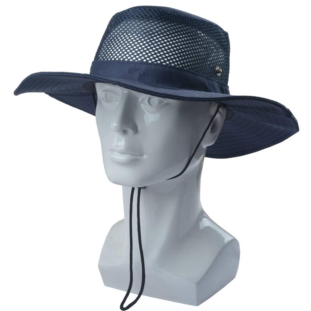 2007d7bb2 SUNLAND Men's Wide Brim Packable Sun Hat Summer Hat Bucket Safari ...