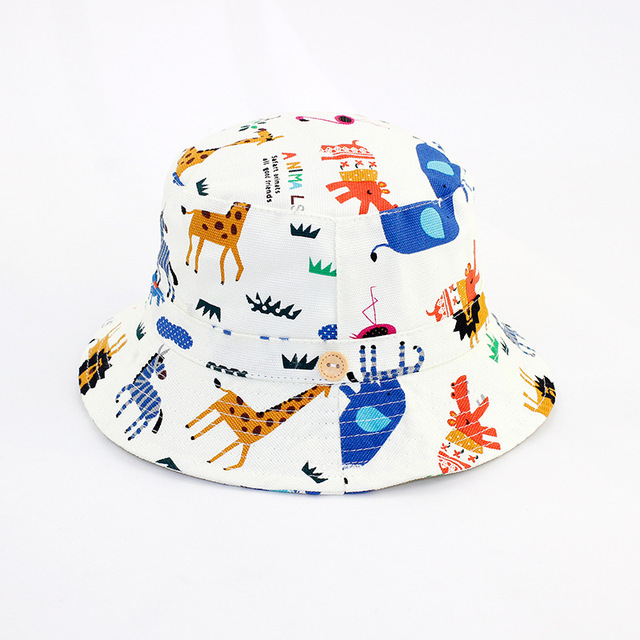 aa6d60ac Fashion Summer Baby Sun Hat Spring Boys Beach Cap Bucket Hats for Girls  Cotton Child Basin