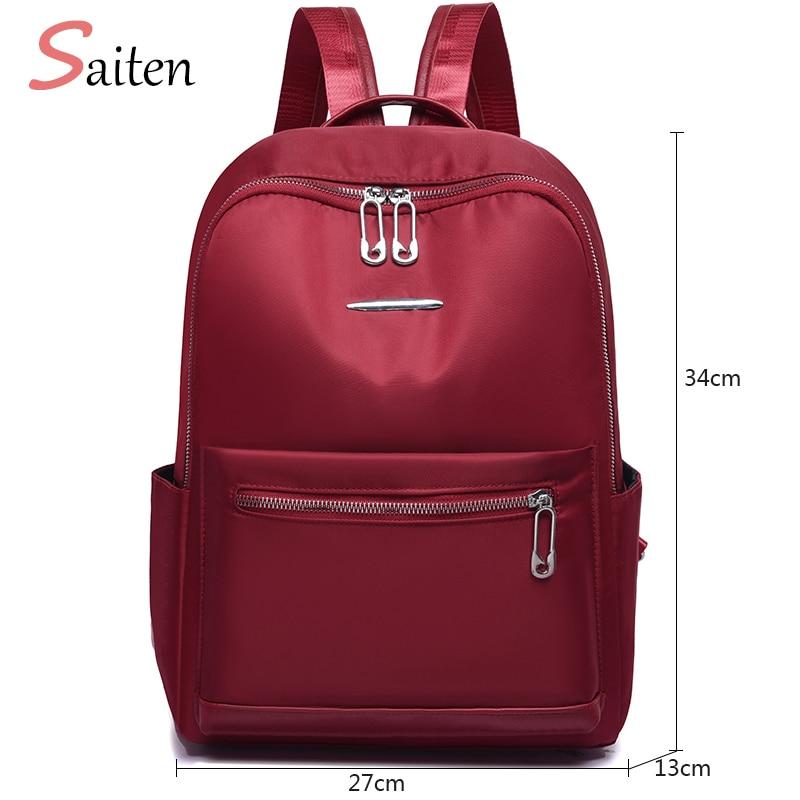 Female Rucksack High Capacity Waterproof Oxford Women Backpack Zipper School Bag For Teenagers Girls Multifunction New Backpack