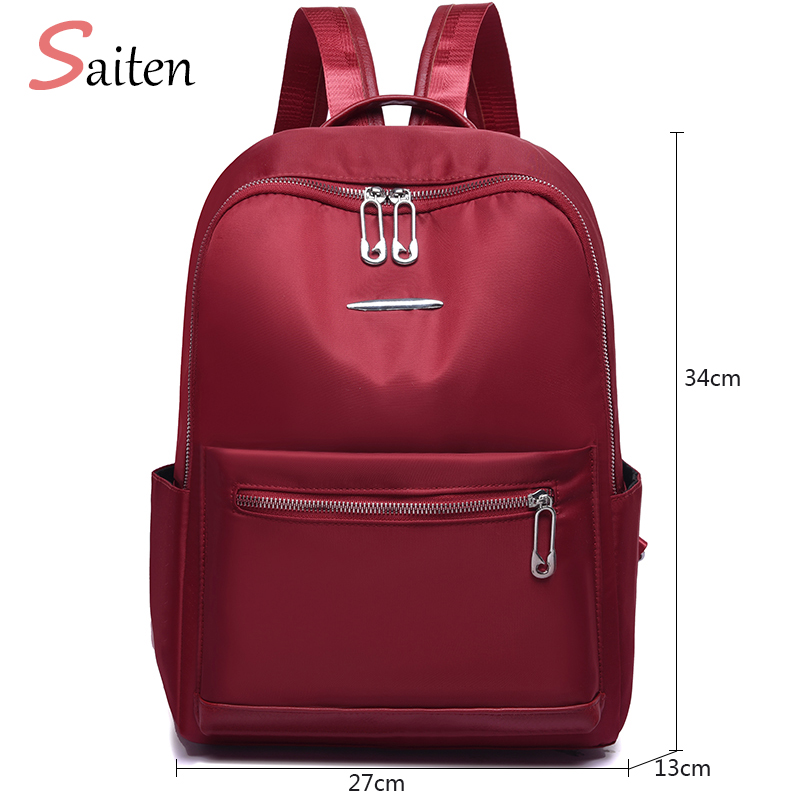 Female Rucksack High Capacity Waterproof Oxford Women Backpack Zipper School Bag For Teenagers Girls Multifunction New Backpack