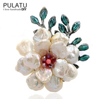PULATU Original Handmade Pearl Flower Brooches for Women Birthday Gift Fashion Jewelry Accessories Pendant Brooch Pins B2L4 12