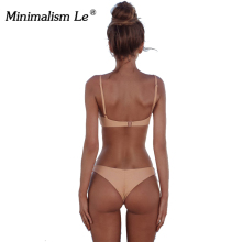 Minimalism Le Sexy 2018 Bikini Set Solid Swimwear Brazilian Bikinis Women Beach Wear Swimsuit Popular Female Bathing Suit BK124