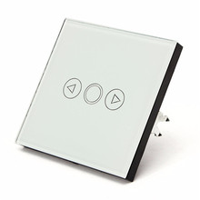 Low Price EU Standard Remote Control Switch Crystal Glass Touch Panel Dimmer Ring Remote LED Wall Light Switch White