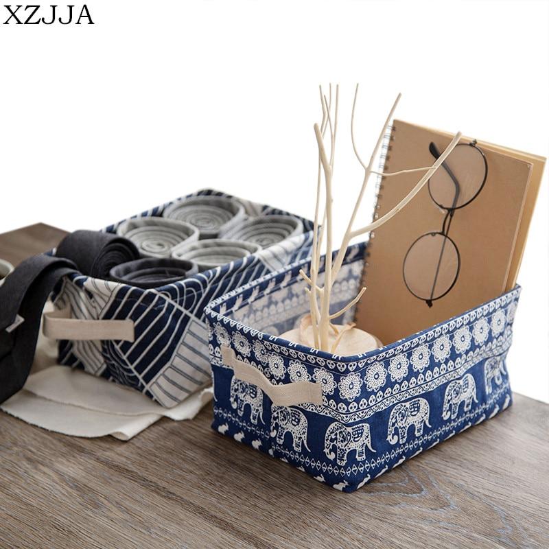 XZJJA High Quality Desktop Storage Box Stationery Toy Cosmetic Jewelry Sundries Storage Basket Underwear Sock Organizers