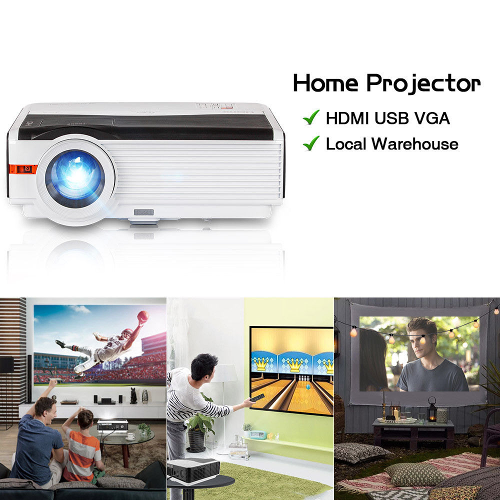 CAIWEI LCD Projector Digital Multimedia Beamer Projection For Home Theater Outdoor Movies Party Support 1080P Video HDMI 5000LM