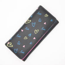 купить BOTUSI New Long Women Wallet Heart Best Wallet Female Case Phone Pocket PU Leather Female Clutch Card Holder Money Coin Pocket дешево