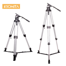 Adearstudio  Tripods For Camcorders photography photo video professional aluminum DV tripod for DSLR camera camcorder LS50D0005