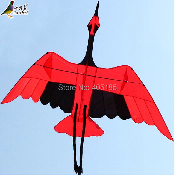 Free Shipping Outdoor Fun Sports 2015 NEW 3m Nylon Power Crane Kite With Handle And Line Good Flying