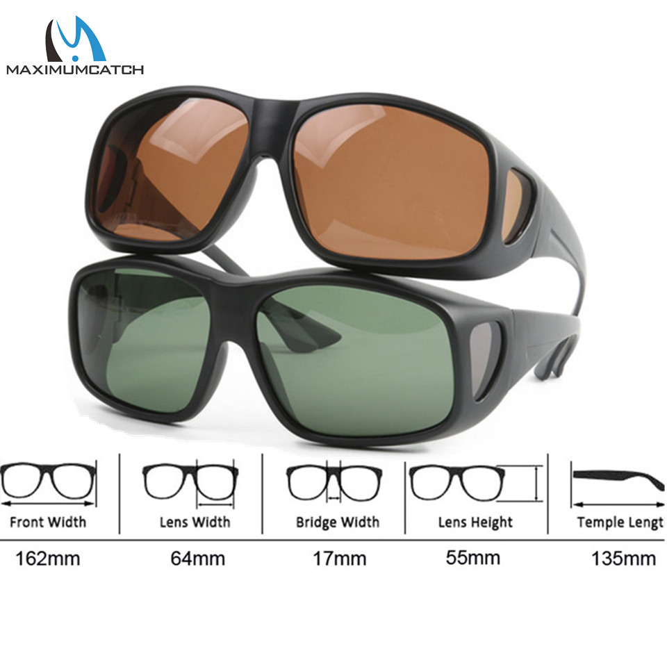 Maximumcatch OVER-FIT Polarized Sunglasses for Fishing 2 Colors Outdoor Sports Glasses Fishing Sunglasses цена
