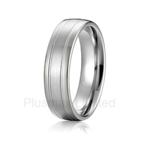 anel masculino modern mens titanium steel wedding band rings white gold color color