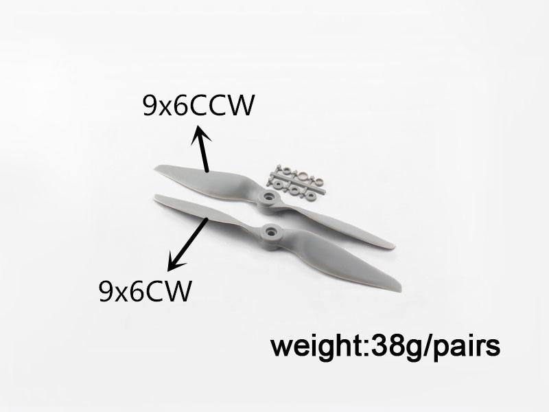 2pcs APC 9 * 6 Propeller + 2pcs APC 9 * 6 Propeller reverso, APC 9 * - Juguetes con control remoto