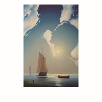 HD Printed Canvas Wall Art Painting Picture Lover Kiss in the Sky Ship Home Decor Oil Painting on Canvas New Year Gift