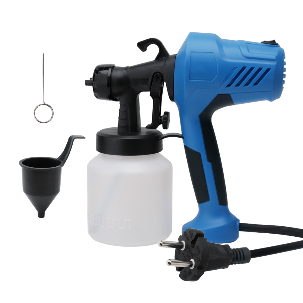 Handheld High Pressure Electric Paint Spray Gun 1000ml 1 8mm Nozzle AC220V 450W HVLP Airless Spray