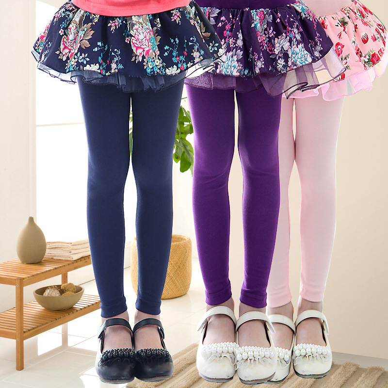 e5ca4647d Floral Pattern Girls Leggings Summer Spring Skirt-pants Flower Lace Kids Girl  Pantskirt Culotte Children False Two Pieces Pants
