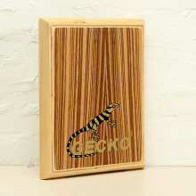 Gecko Percussion PAD-2 Zebra Wood Cajon Drum With Bag 290x45x235mm