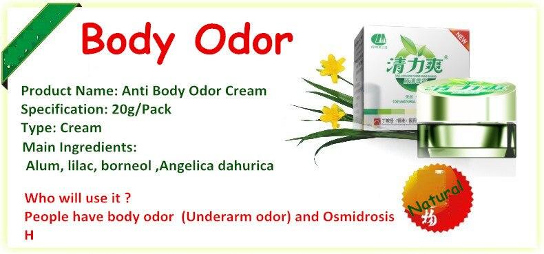 2 Packs Anti underarm odor cream Antiperspirant deodorant