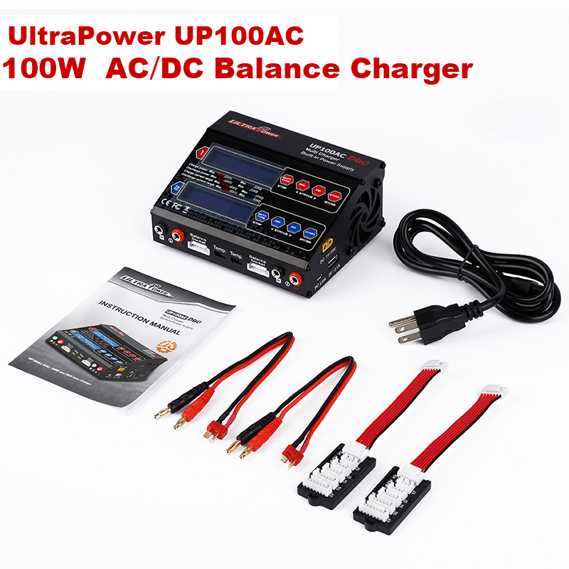 RC Lipo Battery Charger Dual 2 Port 100Watt 10 6Amp AC DC Balancing Battery Charger LiPo