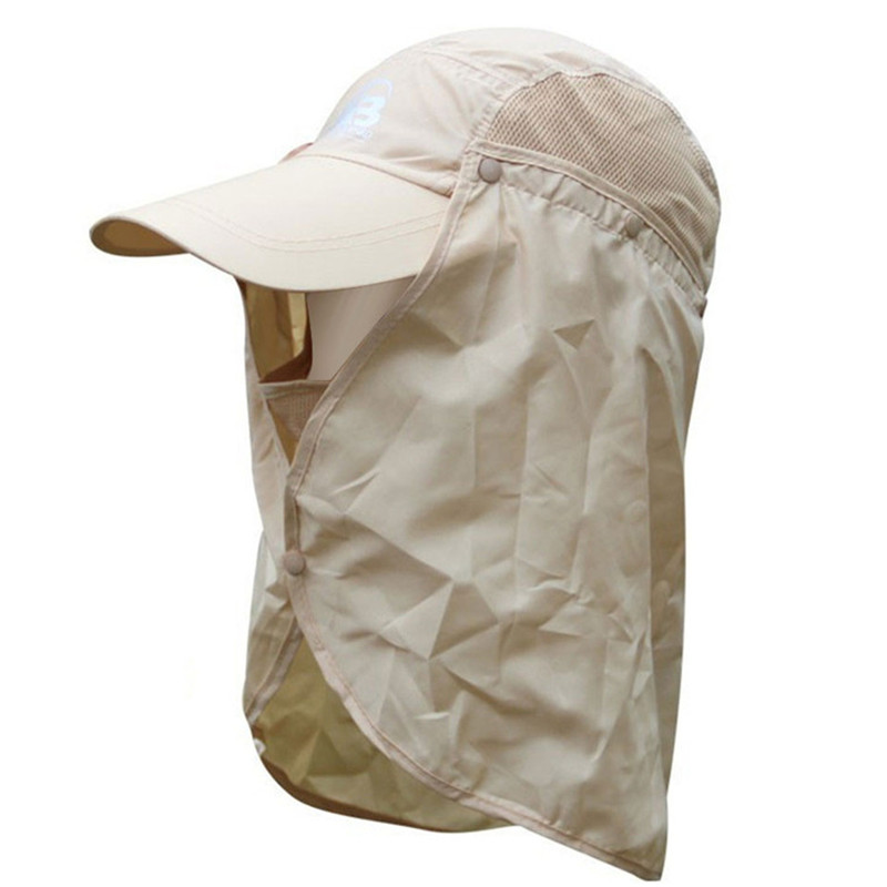 Outdoor Camping Hiking Visor Hat UV Protection Fishing Cap Sun Protection Face Neck Mask Fishing Hat for Women and Men hat for women 100