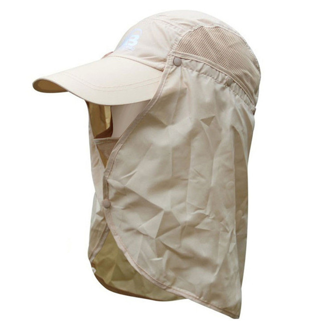 177a6dcc1a7 Outdoor Camping Hiking Visor Hat UV Protection Fishing Cap Sun Protection Face  Neck Mask Fishing Hat for Women and Men