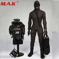 1:6 scale combat diver set frogman seal water ghost soldier clothes model clothing toy fit for 1/6 action figure