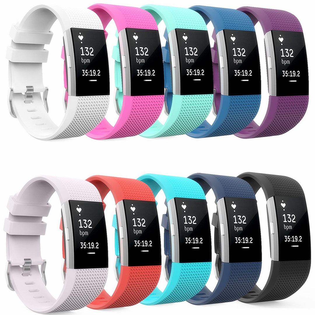 Replacement Wristband Fitness For Fitbit Charge 2 Watch Tracker Step Counter Activity Monitor Band Replacement Smart Bracelet fyone20 replacement wristband bracelet for fitbit flex no tracker free shipping s l for your choice