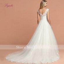 Liyuke A-line Wedding Dress Court Train V-neck Sleeveless