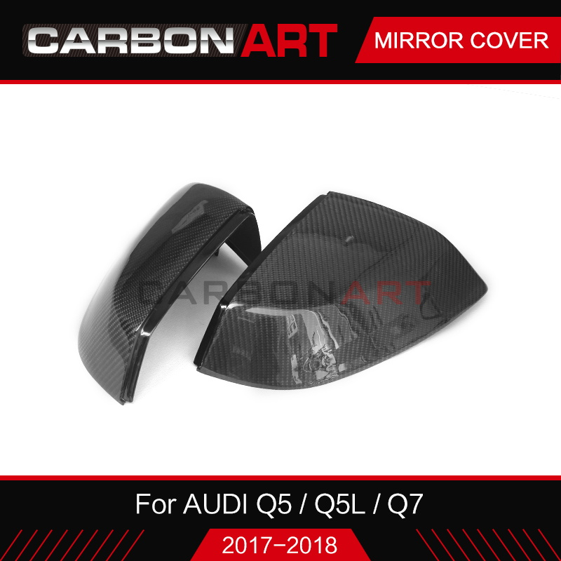 Carbon Fiber For Audi Q7 SQ7 Car Back Rear view Mirror Cover Replacement for Audi new Q7 SQ7 car styling 2016 2017 2018+ 2007 bmw x5 spoiler