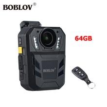 BOBLOV WA7-D 32MP Ambarella A7 HD 1296 P Filmadora Mini 5 horas Gravador De Vídeo 32 GB 64 GB Controle Remoto Junto Ao Corpo Da Câmera GPS