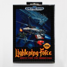 Lighting Force 16 bit MD card with Retail box for Sega MegaDrive Video Game console system