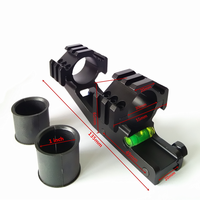 25.4mm 30mm Cantilever Scope Ring Mount 20mm Picatinny Rai with Bubble Level
