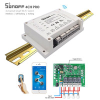 Sonoff 4CH Pro RF Wifi Light Switch 4 Gang 3 Smart Home Working Modes Inching Interlock