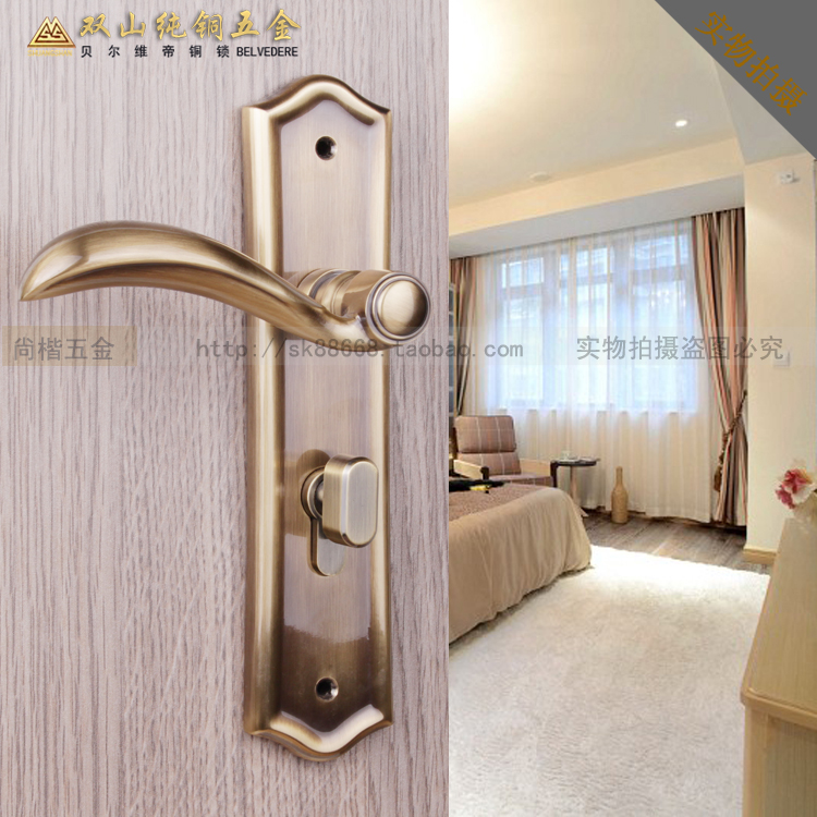 lock copper antique interior locks bedroom quiet simple wood bedroom