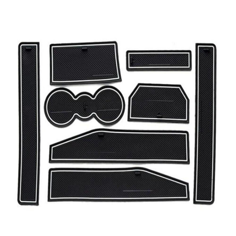 Dongzhen 8PCS Auto Car Interior Accessories Door Groove Pad Non-Slip Mat Silicone Pad Decoration For Range Rover Evoque