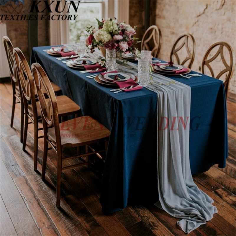 1pcs 150x275cm Chiffon Table Cloth Runners Wedding Table Runner Event Party Festival Decoration