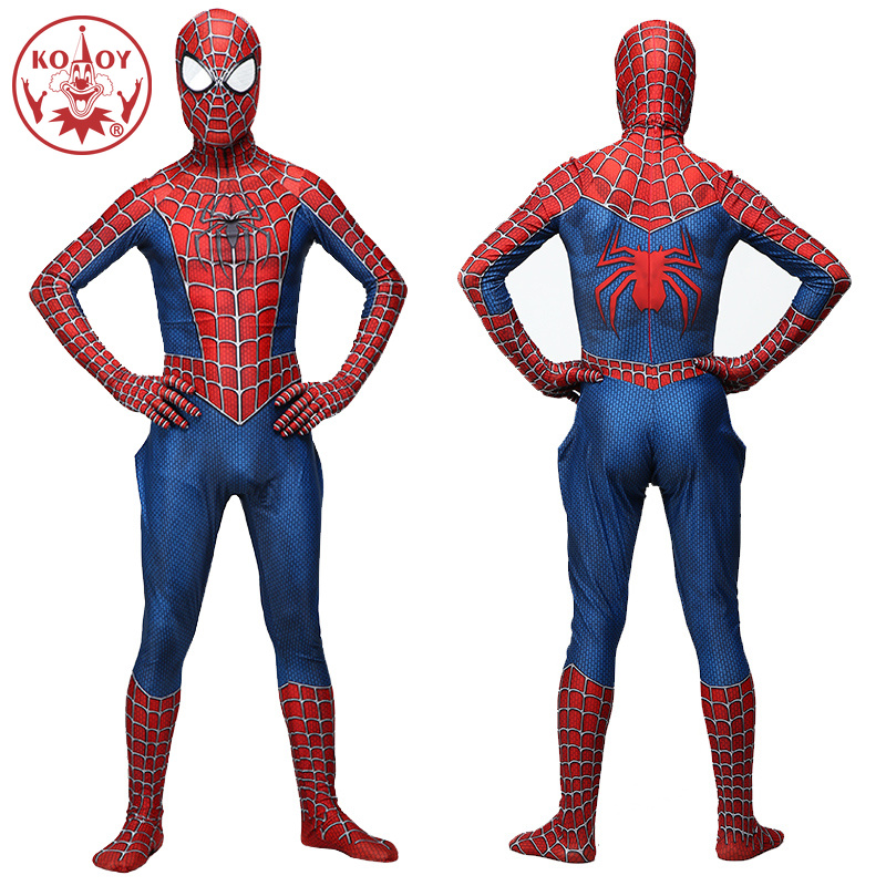 Spiderman Costume Halloween Cosplay Adult Men 3D Printed Lycra Spandex Spider Men Jumpsuit