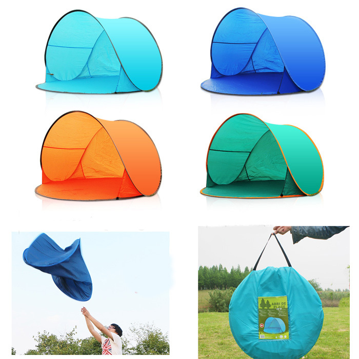 New Outdoor c&ing hiking summer tents UV protection fully automatic sun shade quick open tent pop up awning fishing beach tent-in Tents from Sports ...  sc 1 st  AliExpress.com & New Outdoor camping hiking summer tents UV protection fully ...