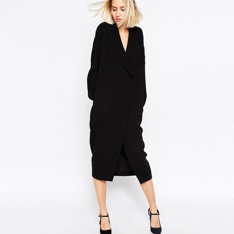 Original UNOMATCH WOMEN COLLAR STYLE SLIM WAIST HALTER SKIRT LACE DRESS NAVY
