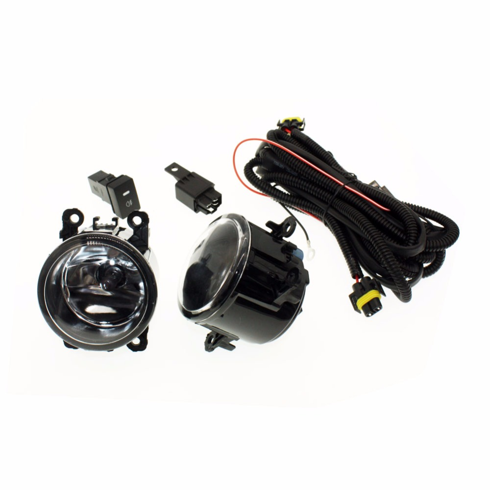 H11 Wiring Harness Sockets Wire Connector Switch   2 Fog Lights Drl Front Bumper Halogen Car