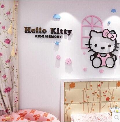 Для HELLO KITTY 3D акрылавы kt кот крышталь - Хатні дэкор - Фота 3