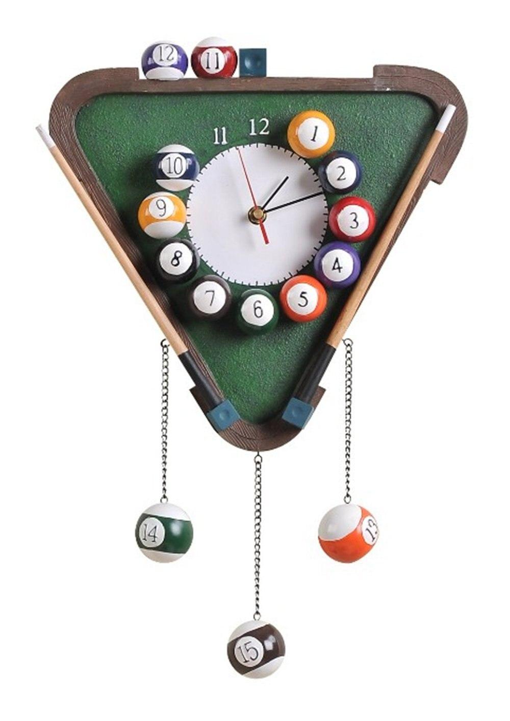 Novelty European Style Vintage Fashion Home Decor Table Tennis Wall Clock