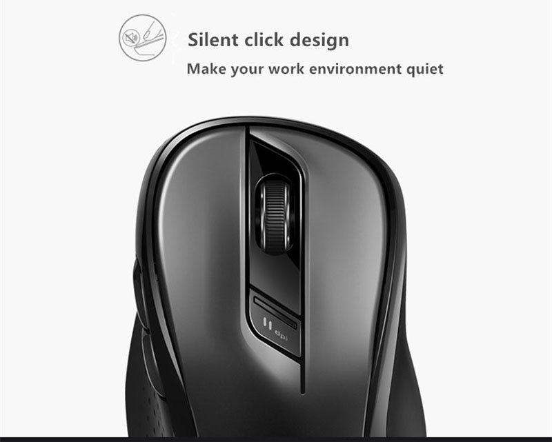 Fio com 1600 DPI Fácil Interruptor Bluetooth