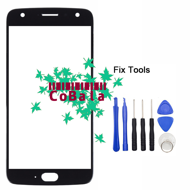 """LOVAIN 1Pcs/Lot Black Blue For Motorola Moto X4 Front Glass 5.2"""" Touch Screen LCD Outer Panel+Tools"""