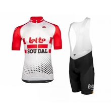 цена на 2019 new Pro team lotto soudal red cycling jerseys Bicycle maillot breathable Ropa Ciclismo MTB Short sleeve bike cloth 3D GEL