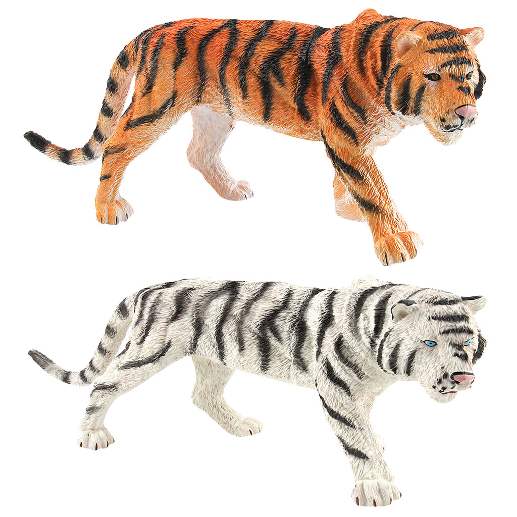 Educational Science Plastic Art Crafts Simulated Tiger Animal Model Ornament Figurine