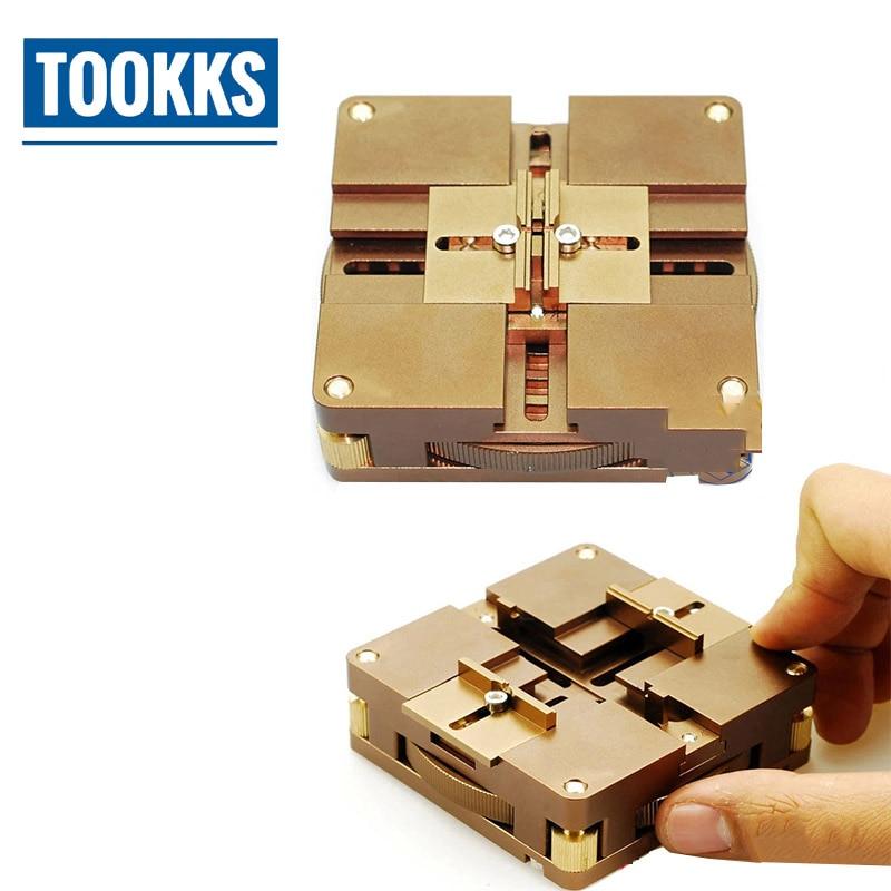 купить High Precision Position Auto Lock BGA Reballing Kit Multi-Sides Adjustment BGA Reballing jig For Mortherboard Chips Repair по цене 4611.66 рублей