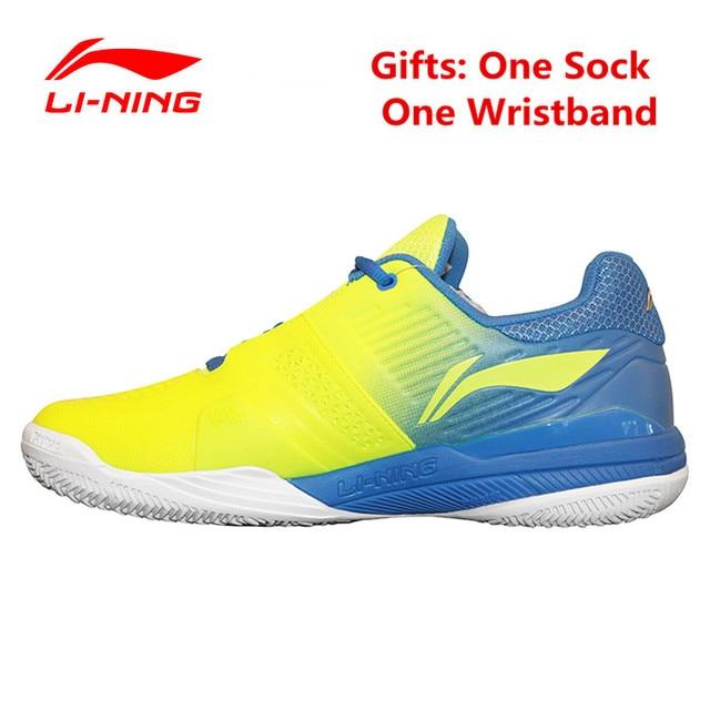 Li-Ning Professional Tennis Shoes for Men Cushioning Breathable Stability Sneaker Li Ning Mans tenis masculino Sports Court Shoe