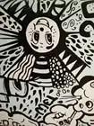 Black & white, carina, sorridente viso car styling sticker bomb vinile dell'involucro dell'automobile della bolla di aria libera per auto barca wrapping decalcomania coperture - 3